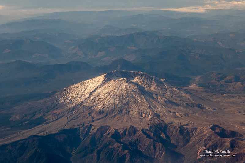 The trip originated in Las Vegas. While getting their we had a nice fly over of Mt. St. Helens
