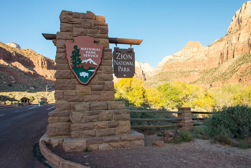 South entrance to Zion National Park, UT - November 2014