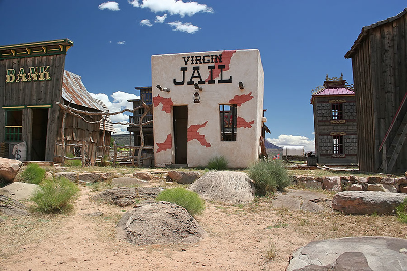 This was a little toursity stop in Virgin, NV... or maybe that was just the name of the jail?