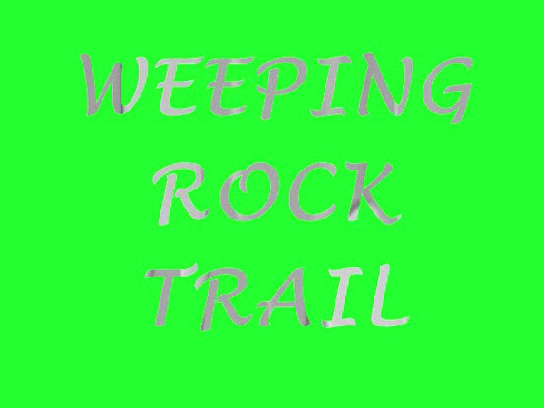 Weeping Rock Trail.