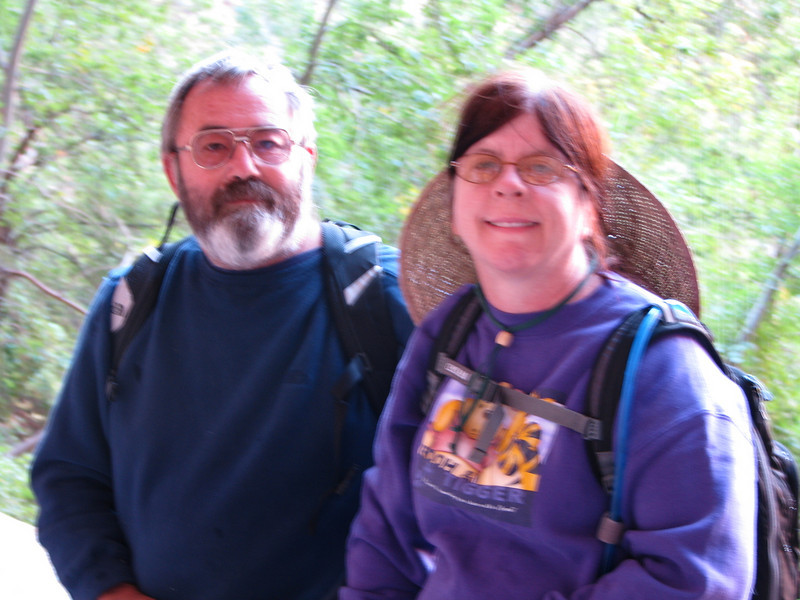A kind couple took our photo while at Weeping Rock.