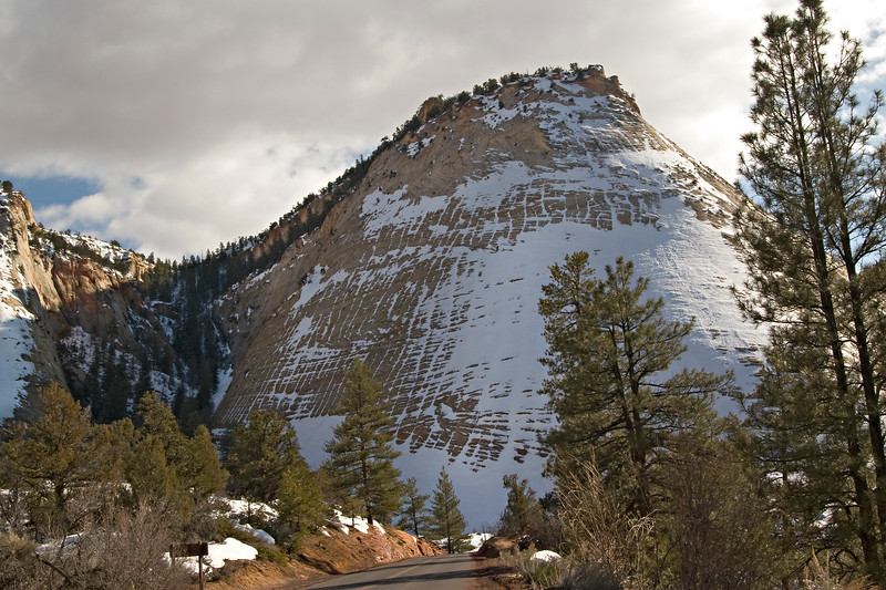 Checkerboard Mesa with snow