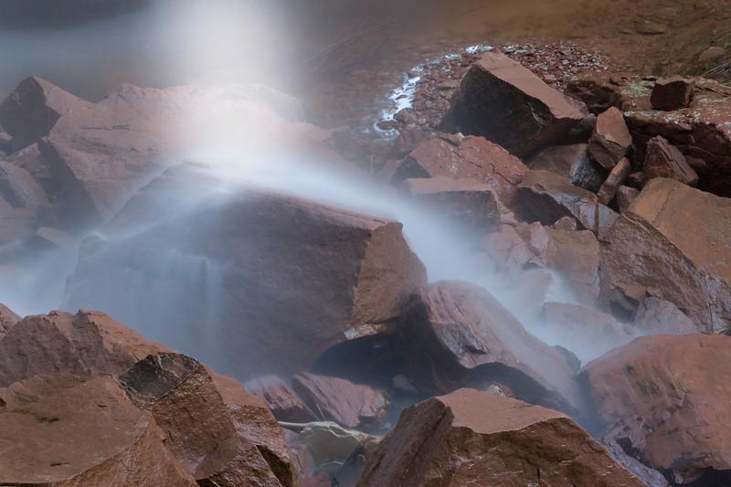 Misty Splash at Emerald Pools