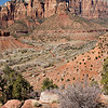 Sandstone Formations Across Zion Valley