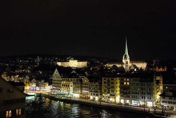 Zurich old town by night