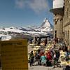 Lunch at Gornergrat with View of Matterhorn