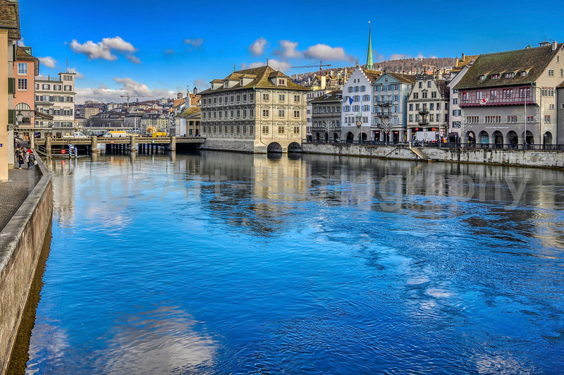 The beautiful city of Zurich, Switzerland, in winter