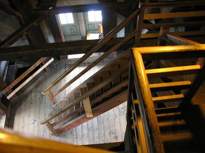 Switzerland, Zurich - Stairs of Grossmuenster (Great Church)