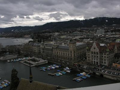 Switzerland, Zurich, view from Grossmuenster (Great Church) Switzerland, Zurich