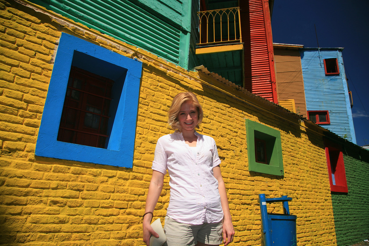 Julie in La Boca in Buenos Aires.