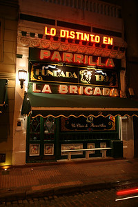 La Brigada, where we went for our first night's dinner to start our two-week binge on red wine and grass-fed beef.