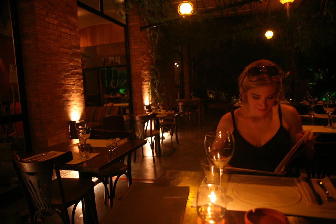 Dinner at Anna's Bistro in Mendoza.