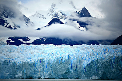 Perito Moreno glacier, in a national park near the southern tip of South America.