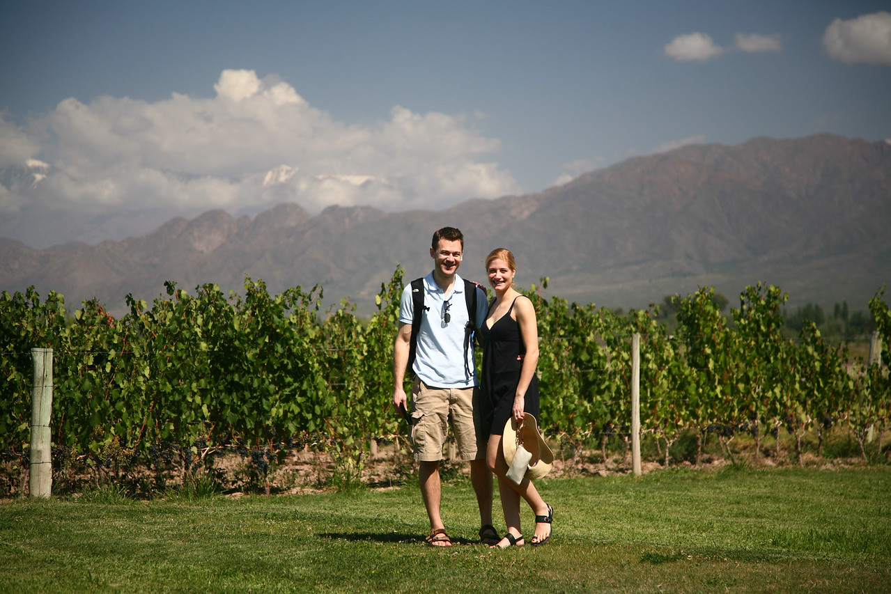 At Achaval Ferrer winery in Mendoza.