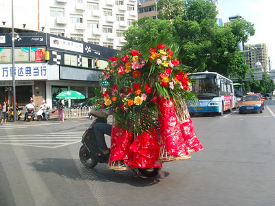 Flower Delivery Scooter