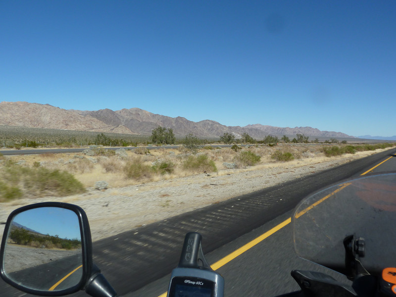 Hills at the edge of Joshua Tree National Park.