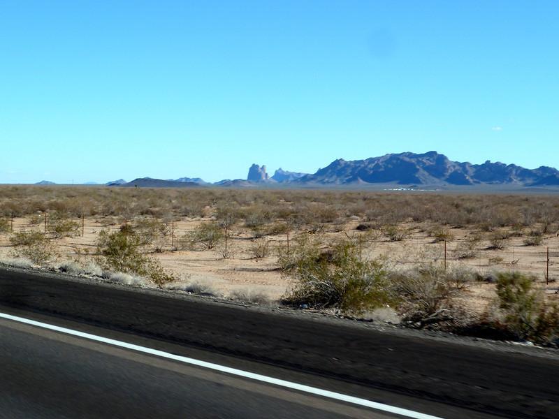 Arizona's Saddle Mountain as I whizzed past.