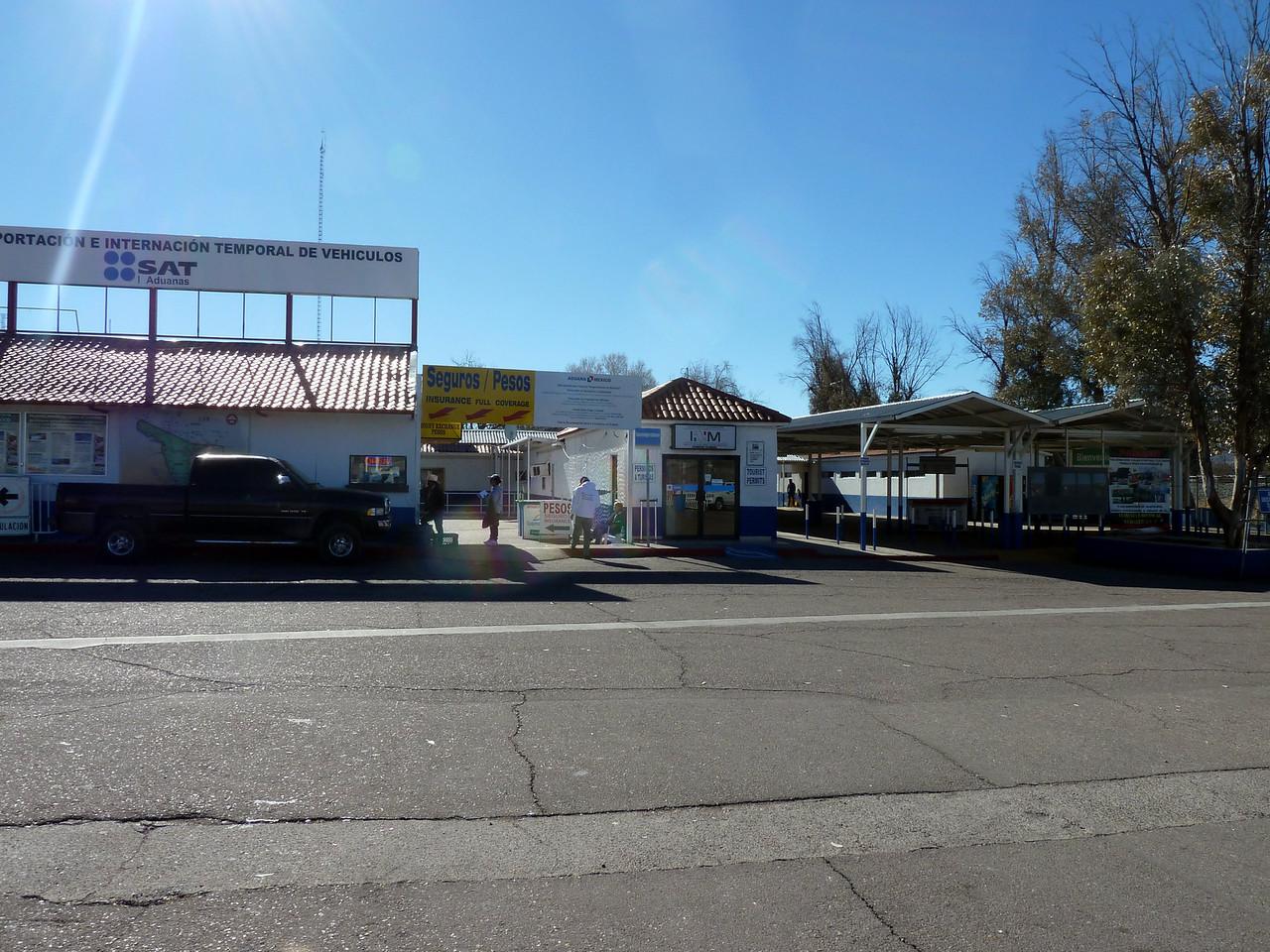 "Agua Zarca ""border"". This is where I got my Tourist Card and TVIP."