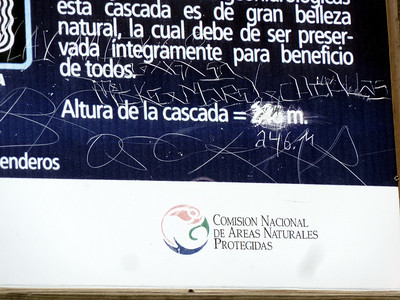 Real-life Wikipedia in Mexico. 246m is correct.