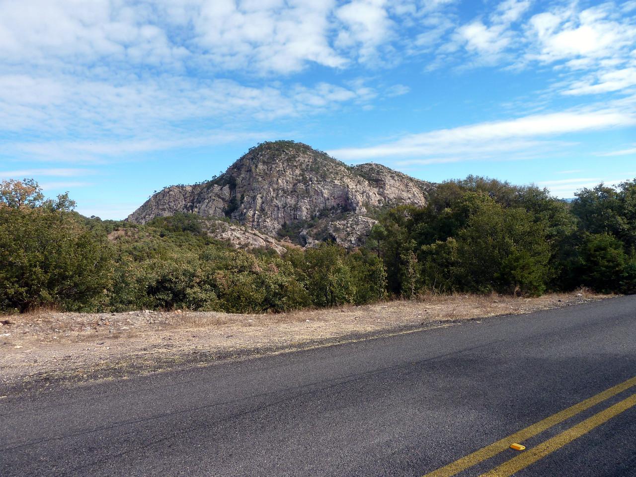Roadside cliff.