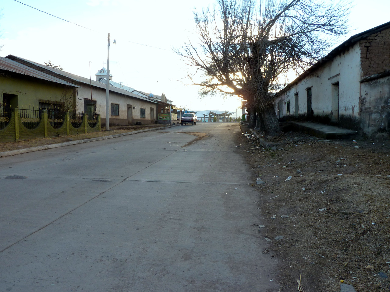 Looking towards the town center in Yecora.