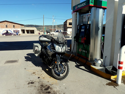 Filling up in San Juanito.