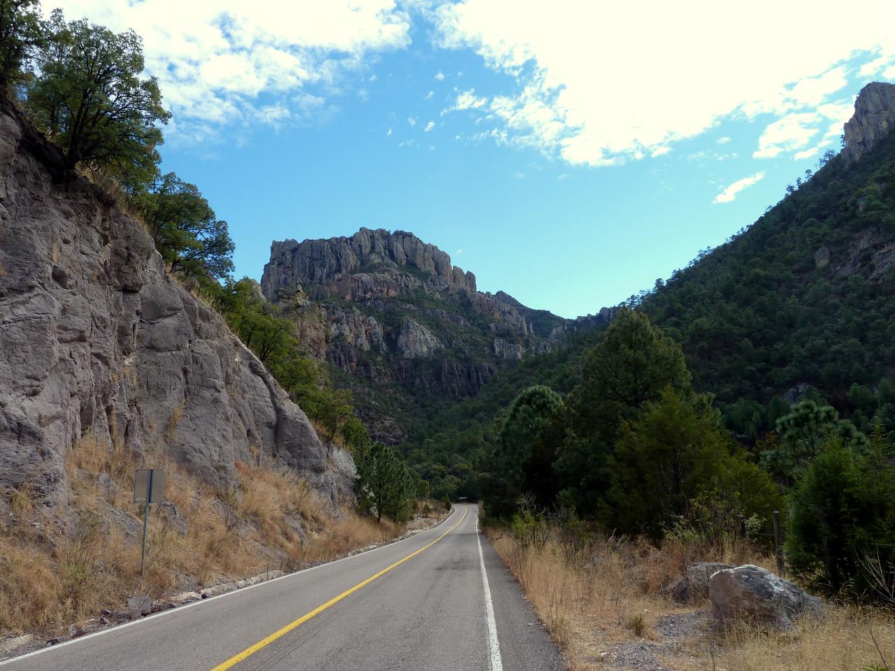 Roadside cliffs.