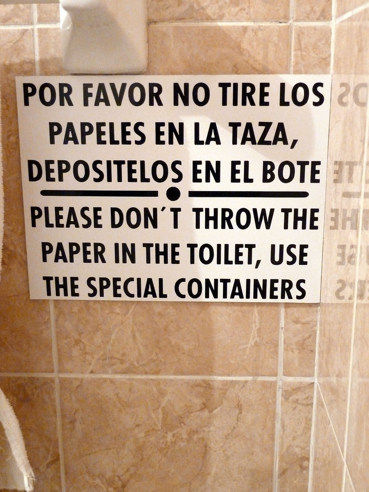 "Sign 4. ""SPECIAL CONTAINERS"". Also known as the trash."