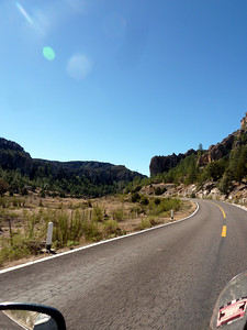 Awesome cliffs along the road.