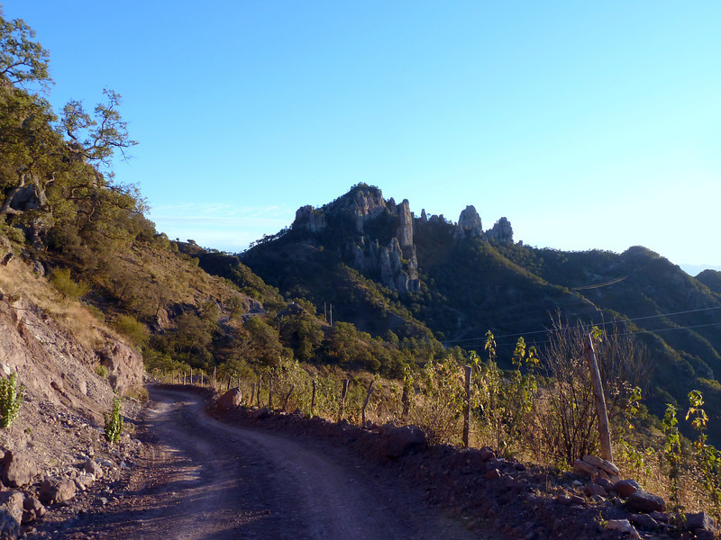 Looking back at some pinnacles.