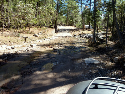 My first stream crossing.