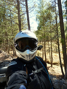 Selfie with goggles and Contour camera.