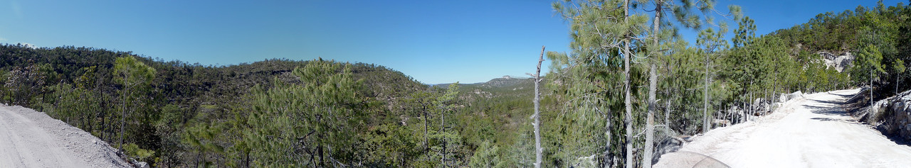 Panorama along the dirt section.