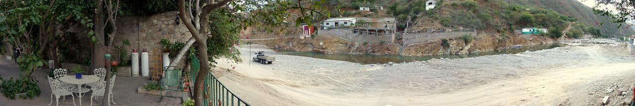 The (panoramic) view of the river at Hotel Juanita's.