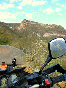 Canyon walls from the bike.
