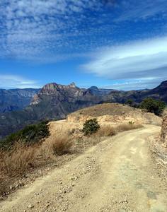 Descent and canyon walls.