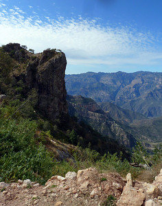 Looking into the canyon.