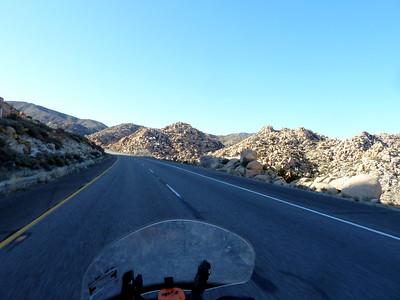 Rocks when climbing the grade into San Diego County.