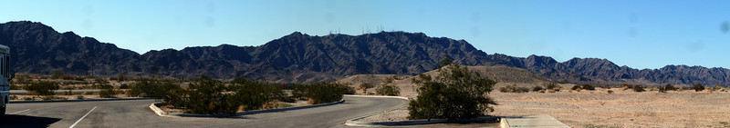 Panorama of the Fortuna Foothills.