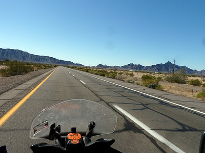 I-8 is flat, then approaches this wall of mountains near the CA/AZ border.