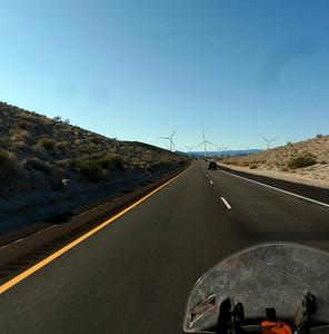 Hills and windmills.