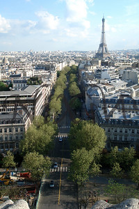View from l'Arc de Triomphe