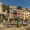 The Vernazza harbor was hit especially hard, and earth moving goes on throughout the day.