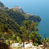 Because of the flood in October, 2011, the trail along the coast to Corniglia is closed, so we went high on the hillside to hike the upper trail, beginning in the town of Volastra.