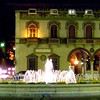 The Rovereto Town Square at midnight.
