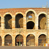 The Arena in downtown Verona. It's still used for gatherings and concerts and such (no gladiator games, I think), and was under a bit of construction when we visited.