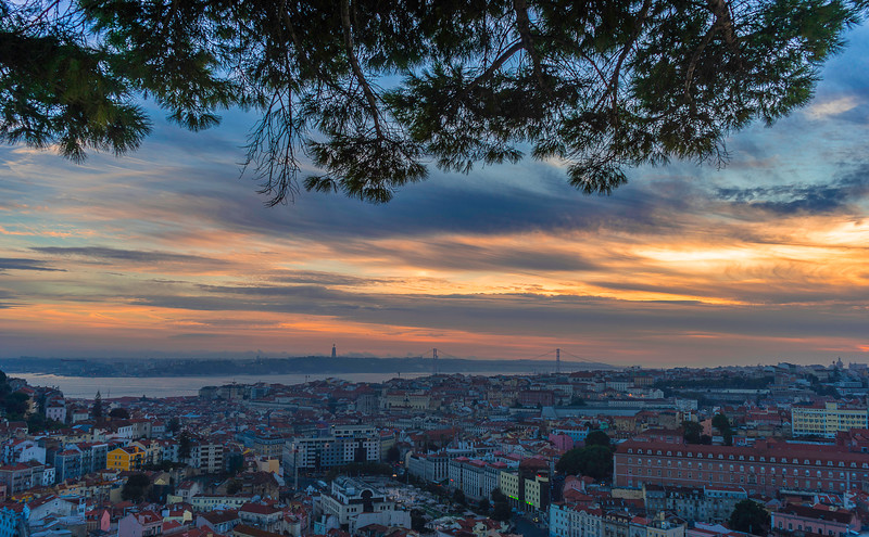 Magical Lisbon City Viewpoint at Sunset Photography 2 Messagez com