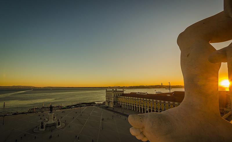 Lisbon Augusta Street Triumphal Arch Viewpoint Sunset Photography 3 By Messagez com