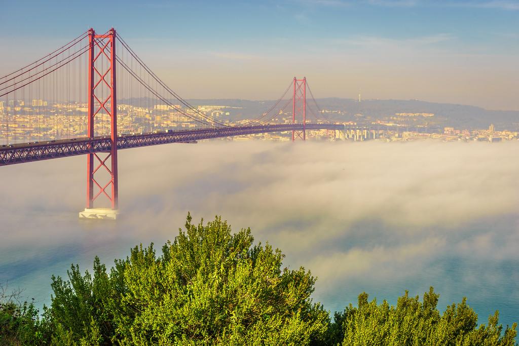 Original Lisbon 25th of April Bridge Landscape Photography 4 By Messagez com