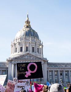 2018 Women's March. San Francisco, California